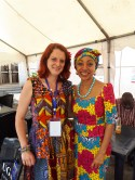 Nina Paarmann and Samia Nkrumah - it was a pleasure for us to meet with Nkrumah's daughter. l Foto: Bea Lundt