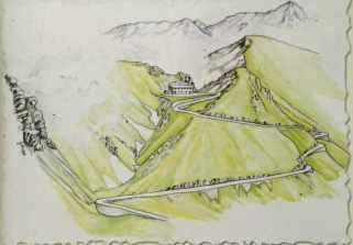 Valle Carbonieri und die ehemalige Militärtraße zum Rifugio und Colle Barant