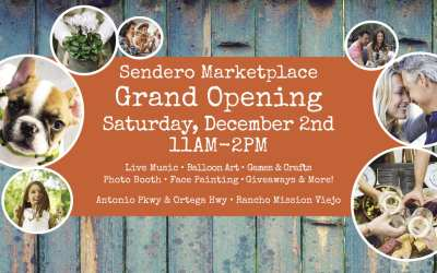 Sendero Marketplace in Rancho Mission Viejo Celebrates Grand Opening on Saturday, December 2nd