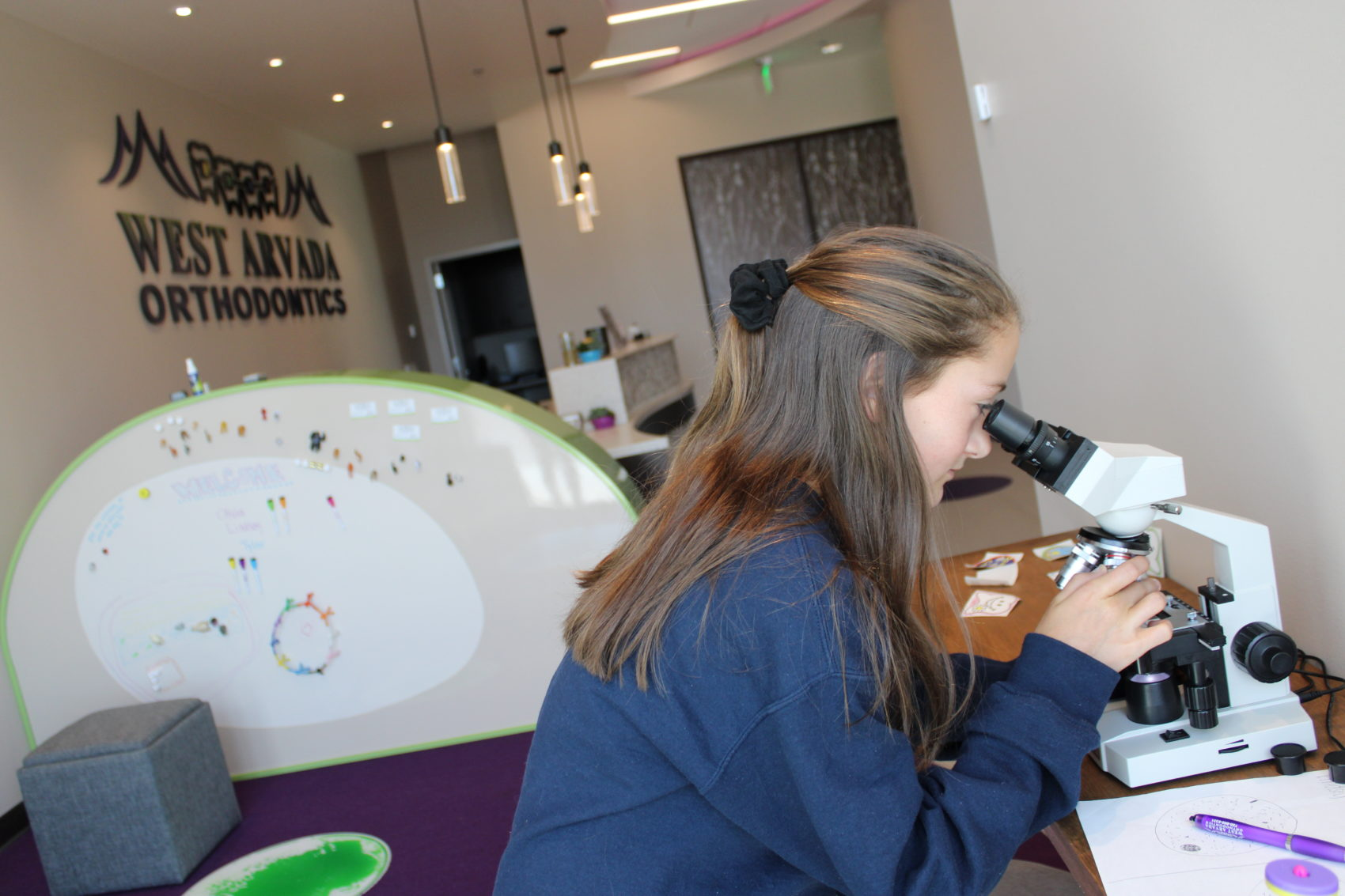 Learning Microscope at West Arvada Orthodontics Arvada Colorado