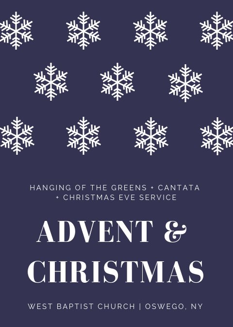 2018 Advent and Christmas at West Baptist Church Oswego
