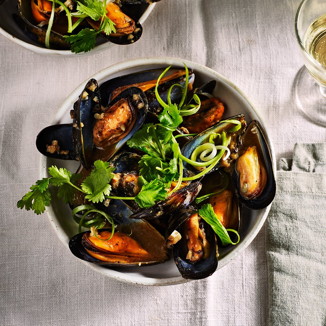 Mussels with Black Beans Garlic and Ginger