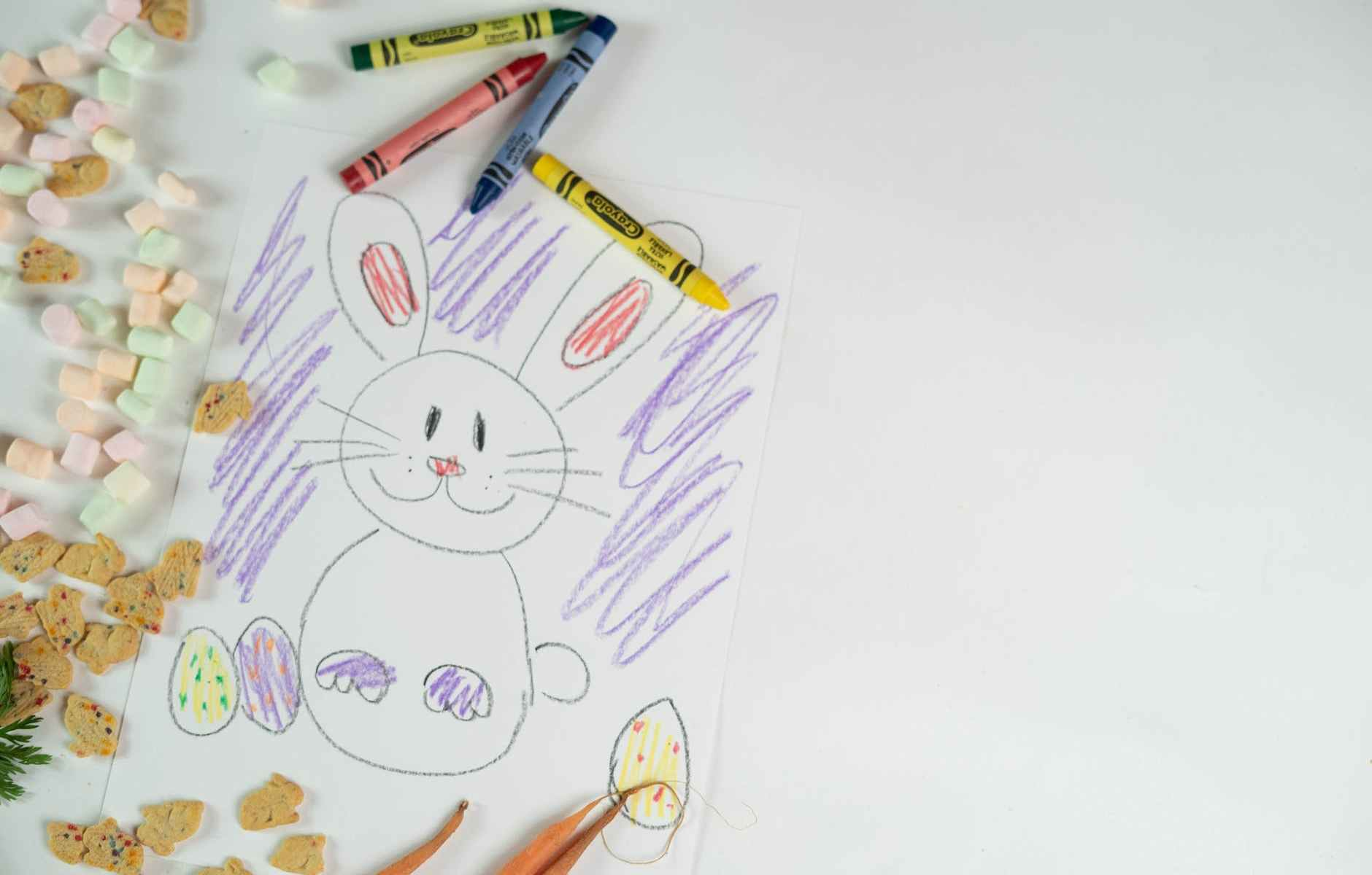 drawing of bunny during easter celebration