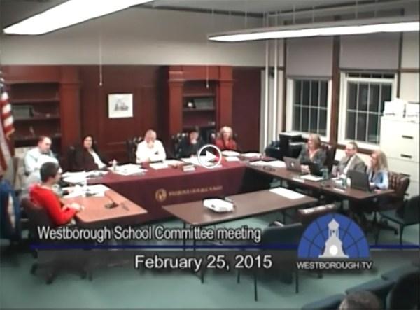 School Committee Meeting – February 25, 2015