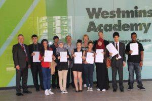 Westminster Academy Students and Sponsors