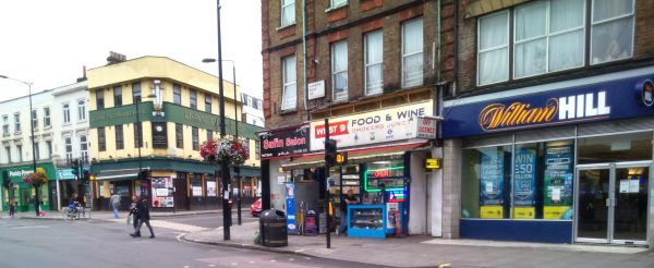 Row of Shops on the North West Corner of Westbourne ward