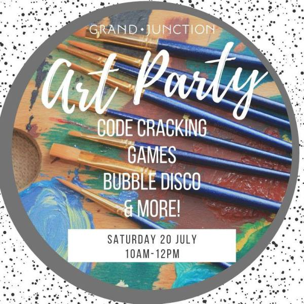 Grand Junction Art Party! Code Cracking, Games, Bubble Disco & More. Saturday 20 July 2019 10 am to mdday.. Grand Junction at St Mary Magdalene Church, Rowington Close W2 5TF