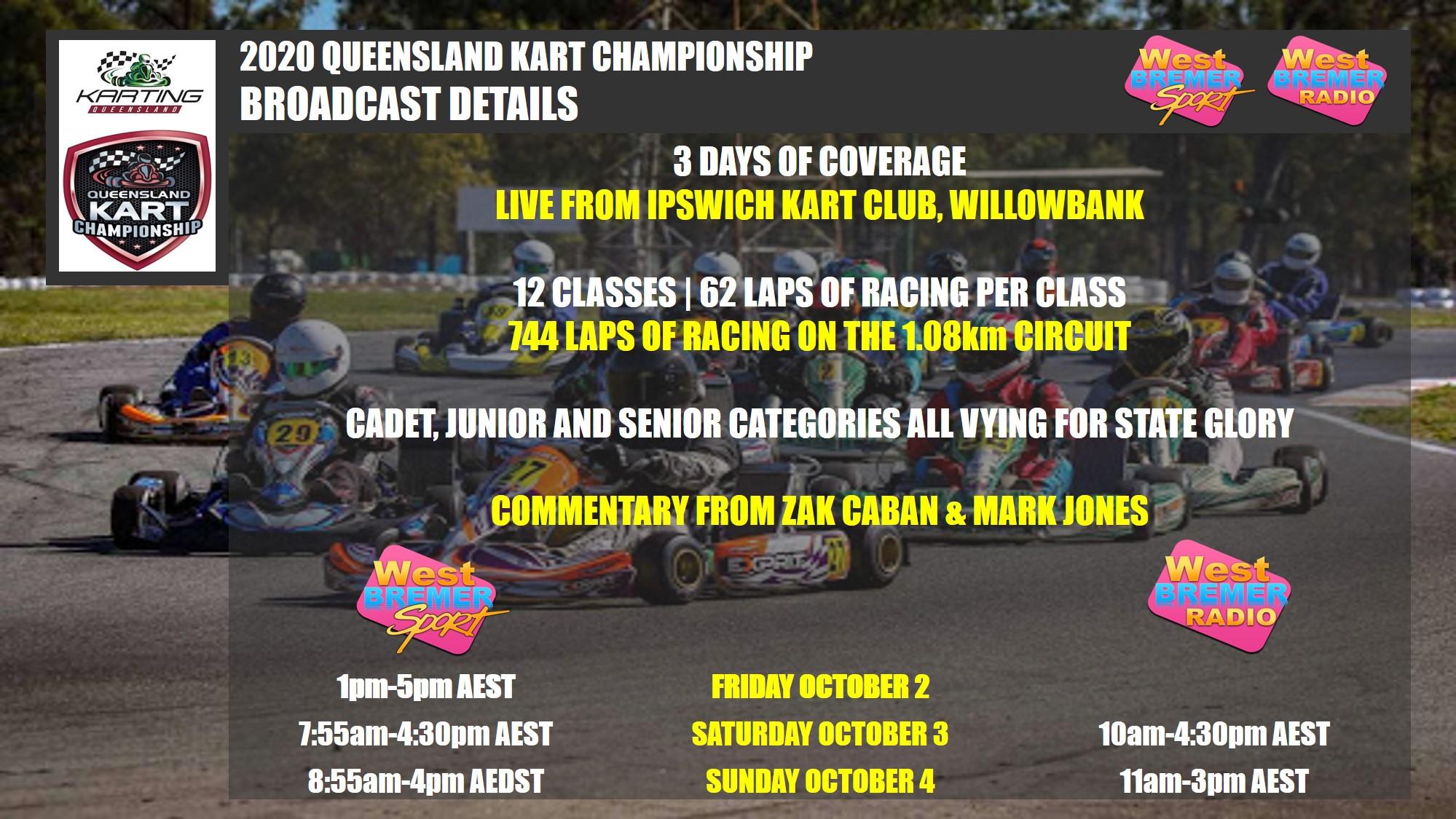 LIVE: QLD Karting Championships on West Bremer Sport!