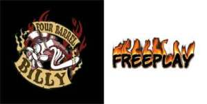 logos for 4 barrel billy and freeplay