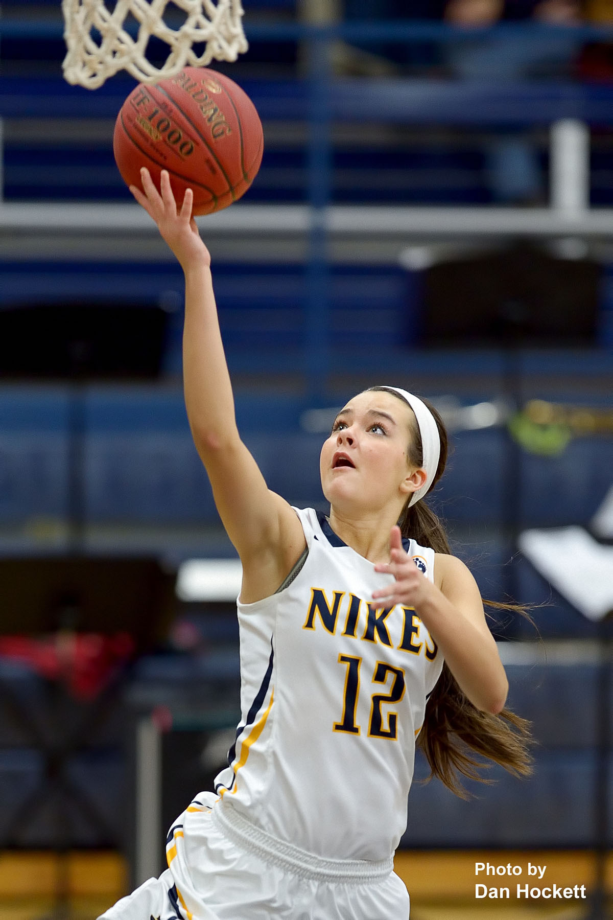 76dbbe4d9afe Photo by Dan Hockett Notre Dame s Johanna Myers goes to the basket against Holy  Trinity Friday