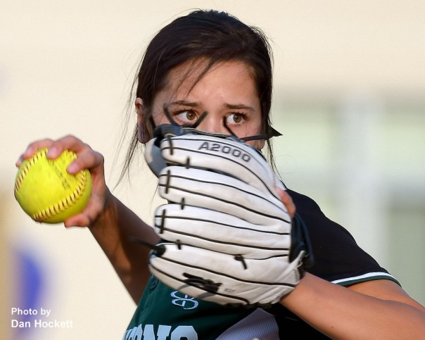 Photo by Dan Hockett West Burlington – Notre Dame's Machaela Diaz looks to throw the ball back to the coach during warm-ups before Friday night's game against Highland in West Burlington.