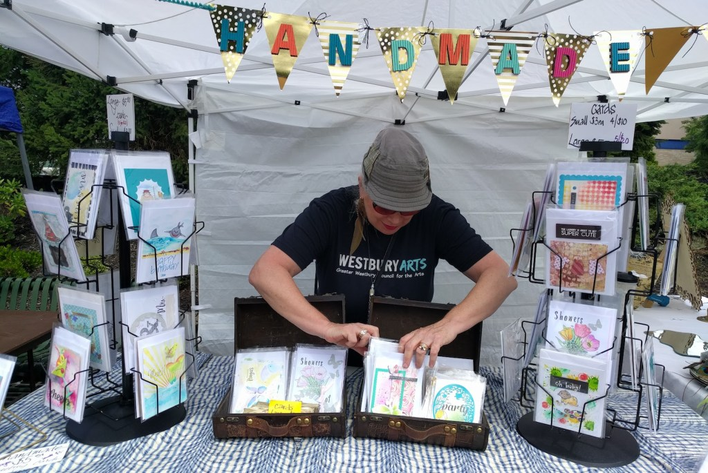 Maureen Baranov's handmade cards booth