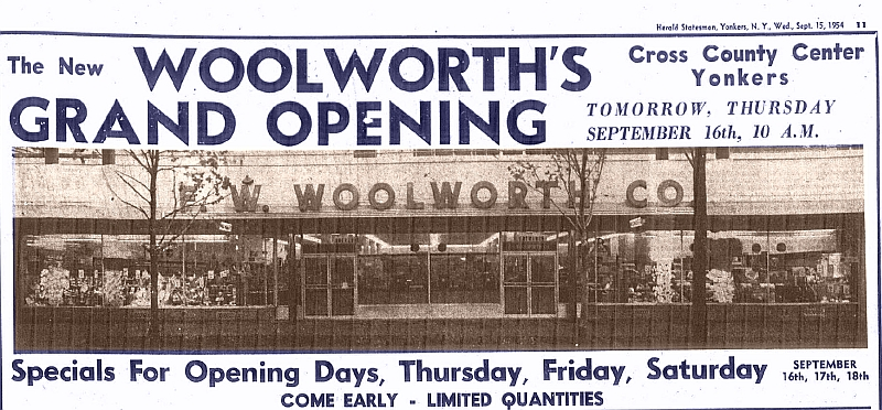 Westchester #TBT – When There Was a Woolworth's at Cross County in Yonkers