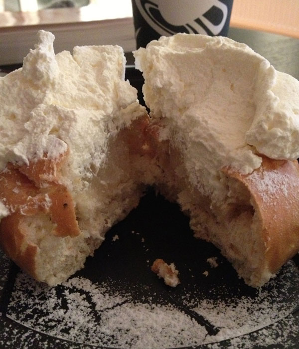 cross-section of a semla bun - minus the hat