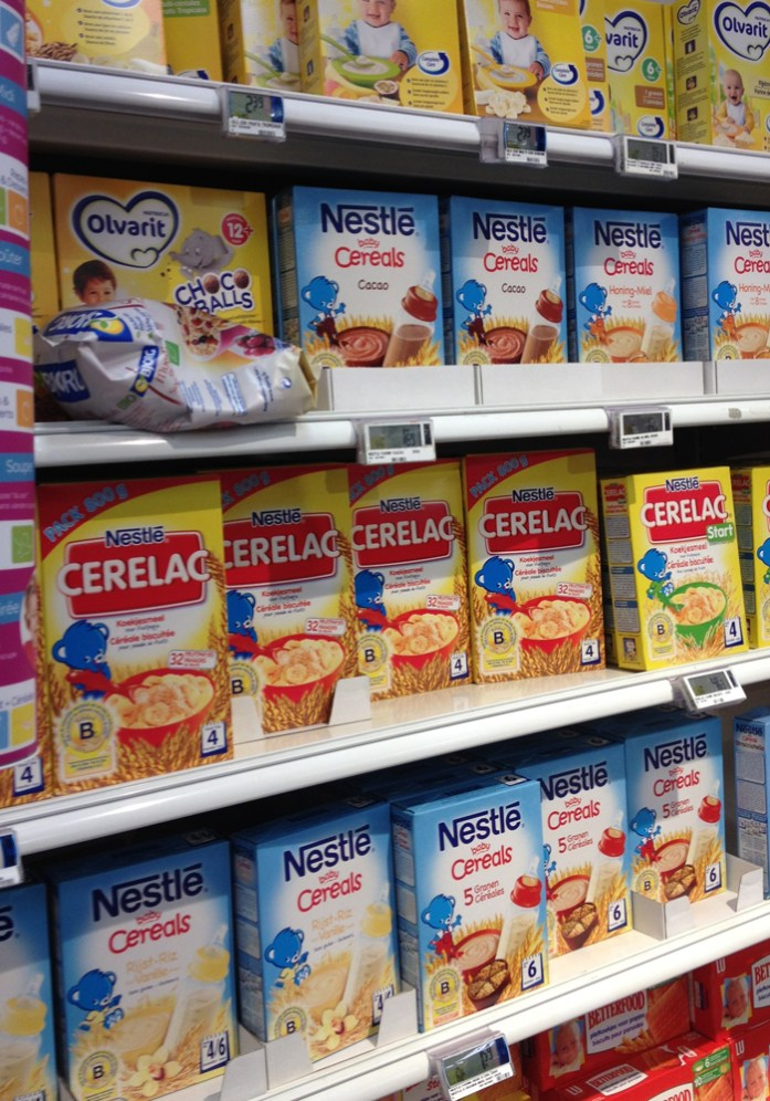 chocolate cereals in Belgium