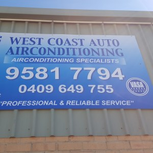 West Coast Auto Airconditioning sign