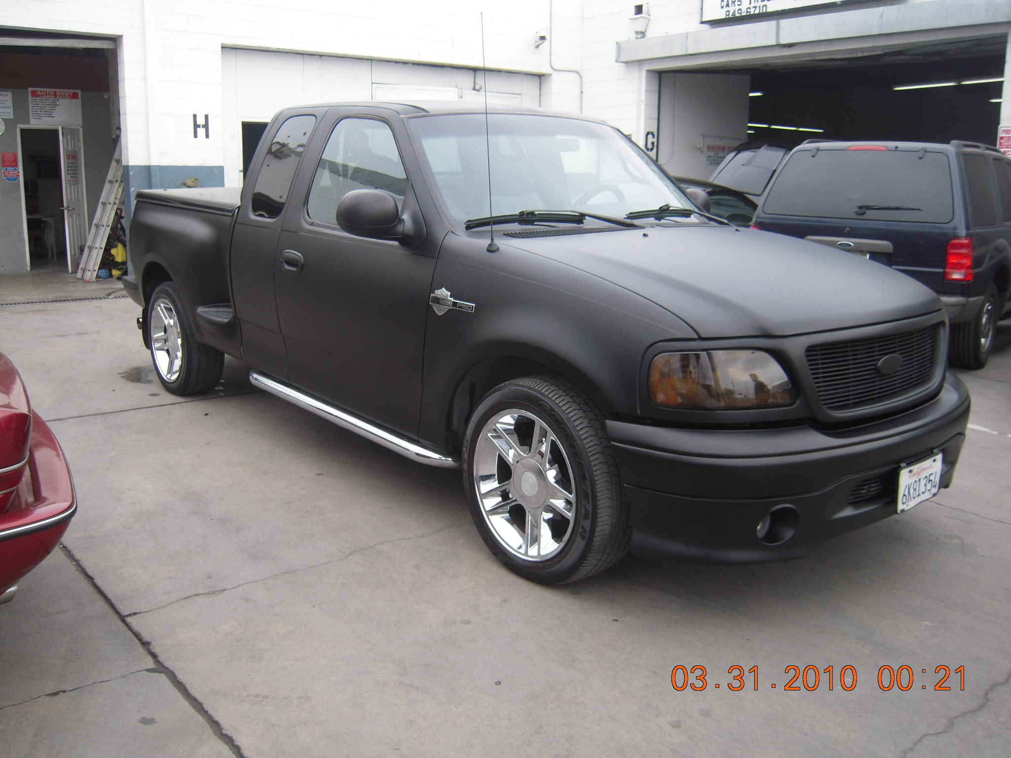 Ford F150 Custom Black Satin Car Paint - West Coast