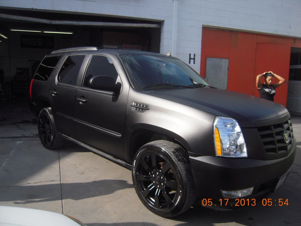 Custom flat matte black car paint job in Van Nuys by West Coast Body & Paint