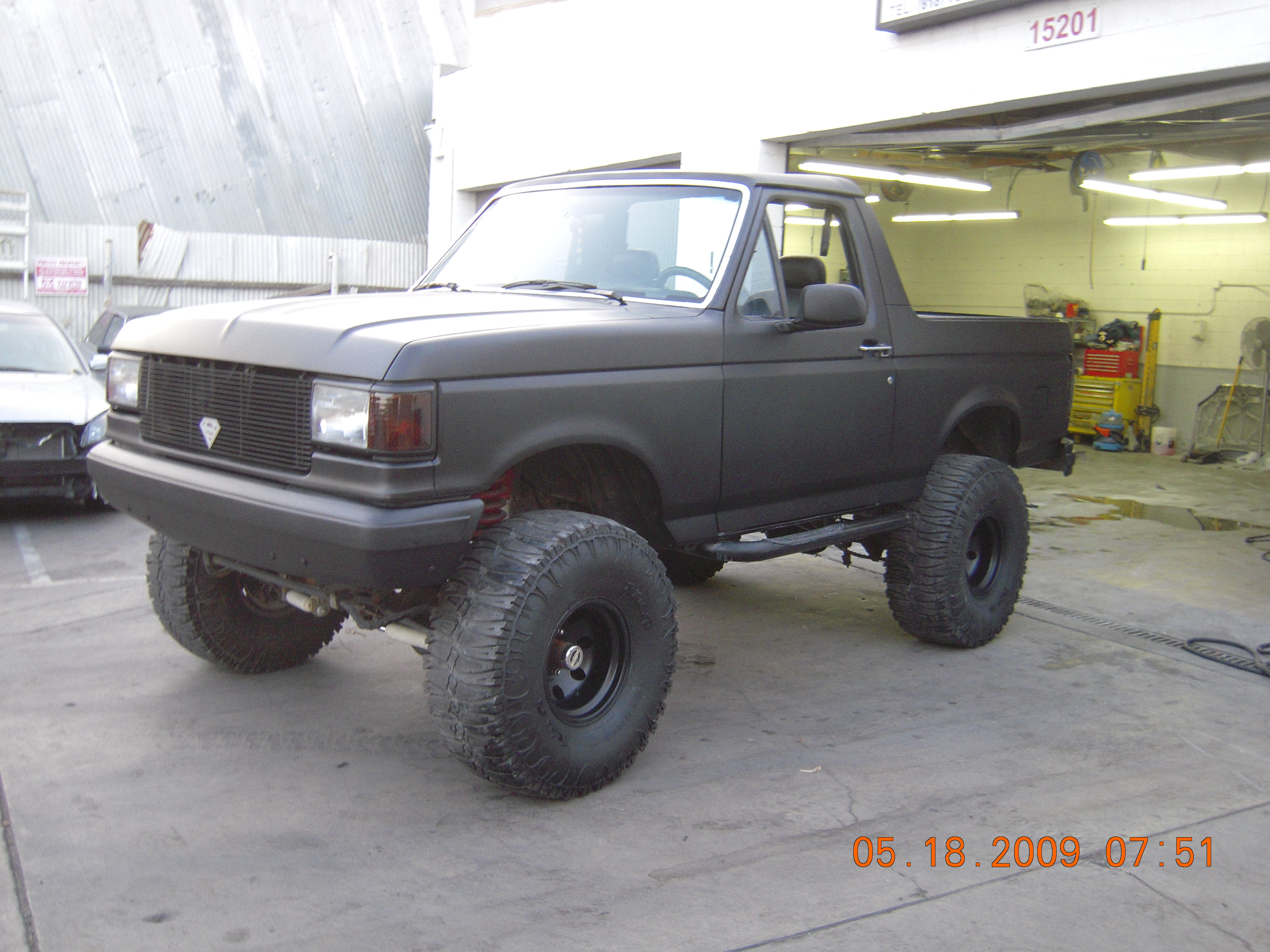 Bronco Custom Black Matte Paint West Coast Body And Auto Ford Jobs Shop Collision Repair Car Restorations Van Nuys Ca