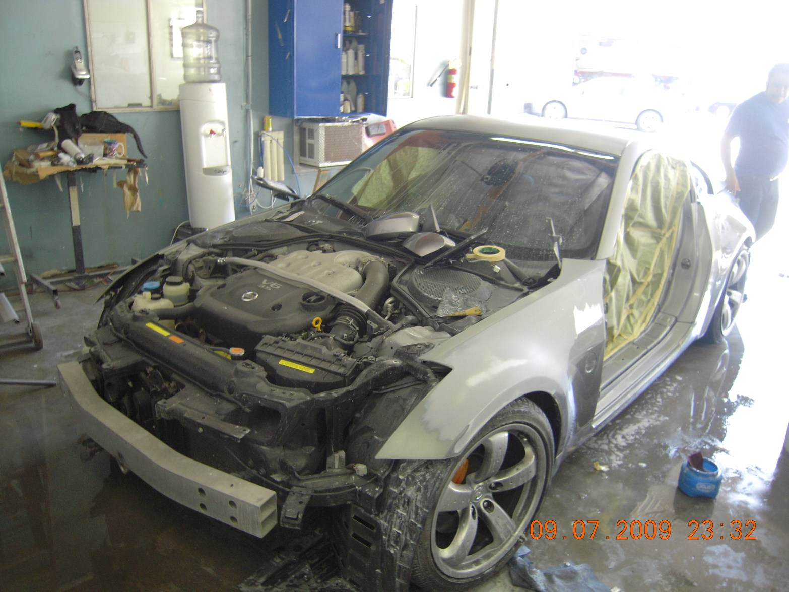 west-coast-body-and-paint-flat-black-nissan-350z-3