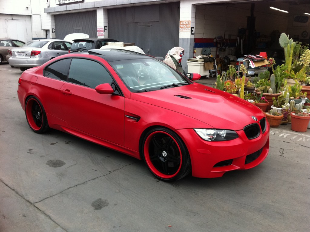 Bmw M  Red Paint Job