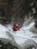Dan seconding the 2nd pitch of Icy BC, in excellent conditions (Wes)