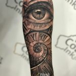 eyes with watch