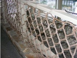 Handrail Nets Playground Rail Netting West Coast Netting | Nautical Rope Stair Railing | Ship Rope | Closed Staircase | Cottage Style | Banister | Minimalistic