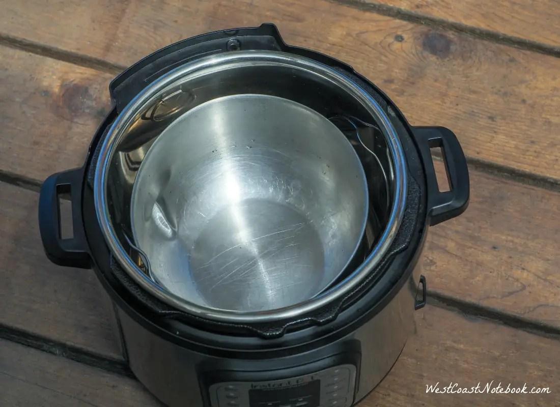 Put metal bowl in Instant Post