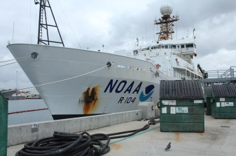 Our ship! NOAA Ship Ronald H. Brown, at port in San Diego. Photo credit: Emma Hodgson