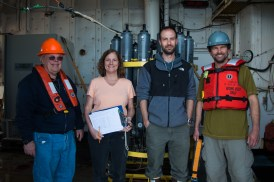 Team 'Data Management': Dick Feely, Cathy Cosca, Ryan McCabe, Julian Herdon, and (not pictured) Sigrid Salo . Photo Credit: Meghan Shea