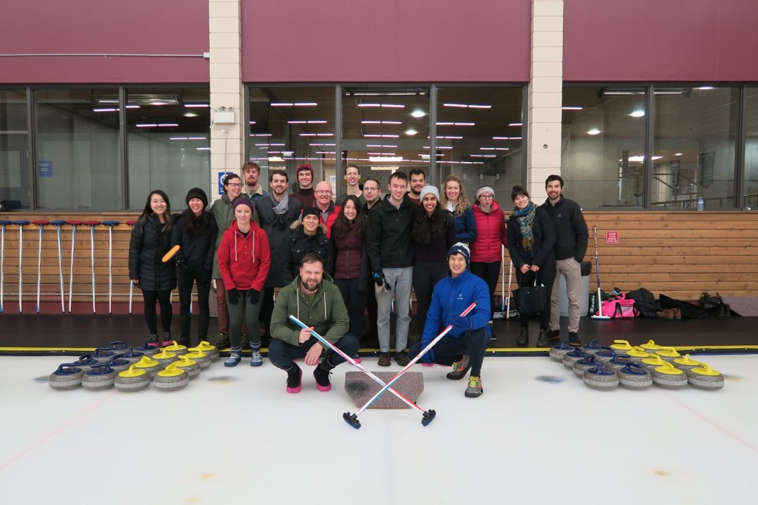 Westcoast SCI Team Photo Curling