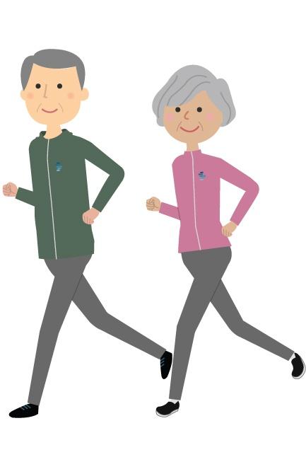 Happy Elderly People Exercising