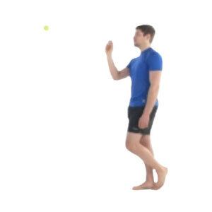 Single Leg Balance + Ball Throw