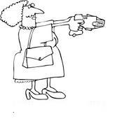 Woman holding taser gun