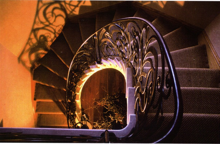 Hand forge spiral balustrade by West Country Blacksmiths