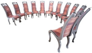 12 bespoke chairs designed and made by West Country Blacksmiths