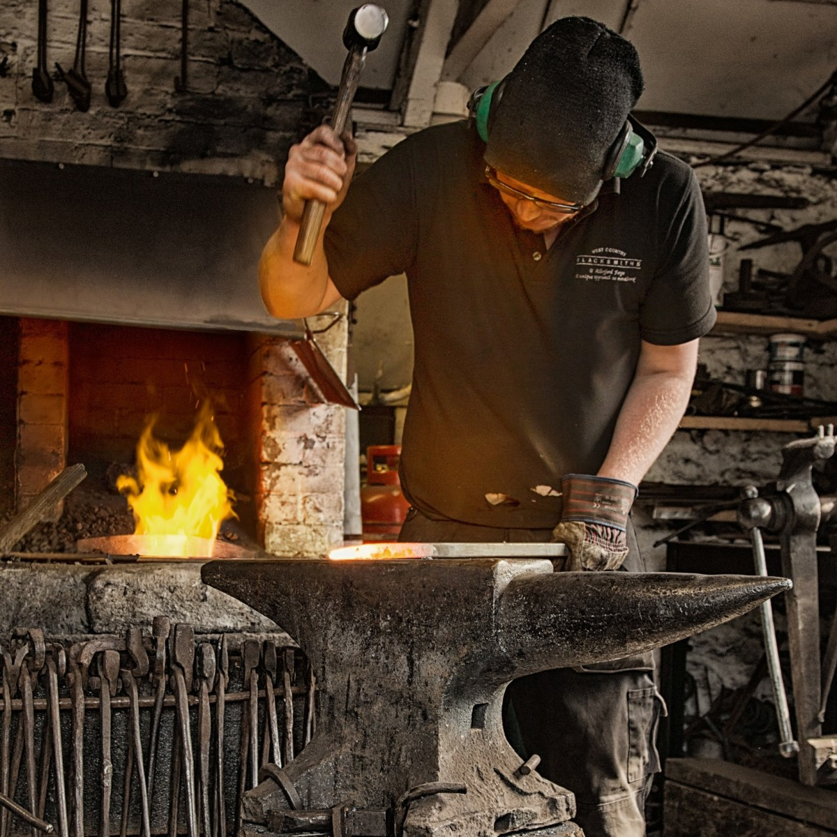 Blacksmith Forging at West Country Blacksmiths