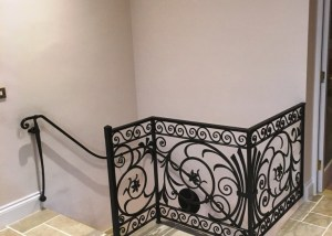 Decorative handcrafted balustrade and handrail by West Country Blacksmiths