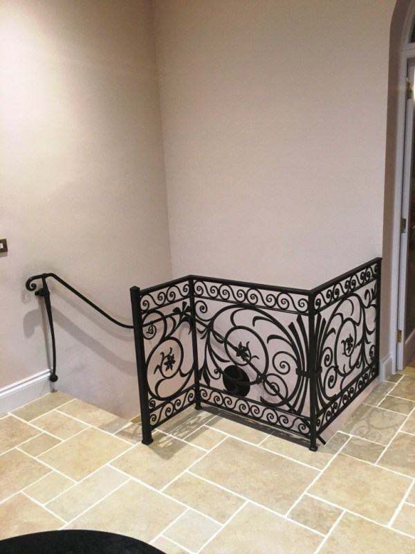 Decorative handcrafted balustrade and handrail
