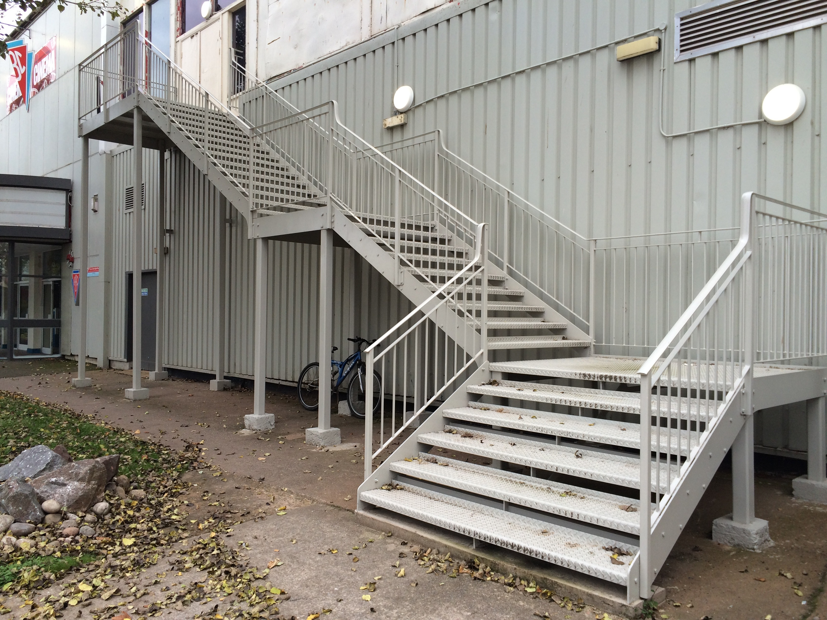 Staircase and Fire Escapes - Bespoke fire escape at Butlins in MInehead.