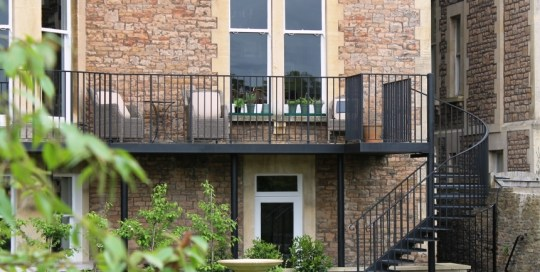 Clifton Balcony, gate & railing project - Bespoke metalwork Clifton