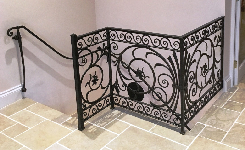 Decorative balustrade by West Country Blacksmiths