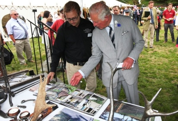 West Country Blacksmiths meeting Prince Charles