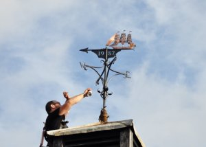 Watchet Market House Weathervane Restoration