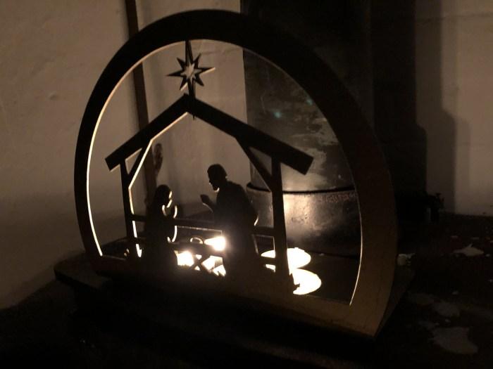 Nativity Scene Candle Tray