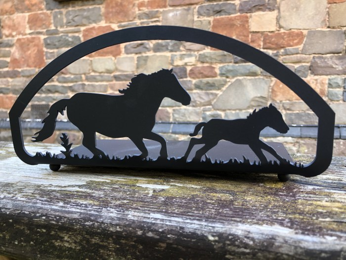 Horse and foal candle tray