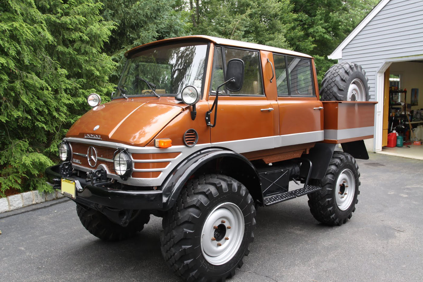 spotted 1974 unimog 406 doka for sale west county explorers club. Black Bedroom Furniture Sets. Home Design Ideas