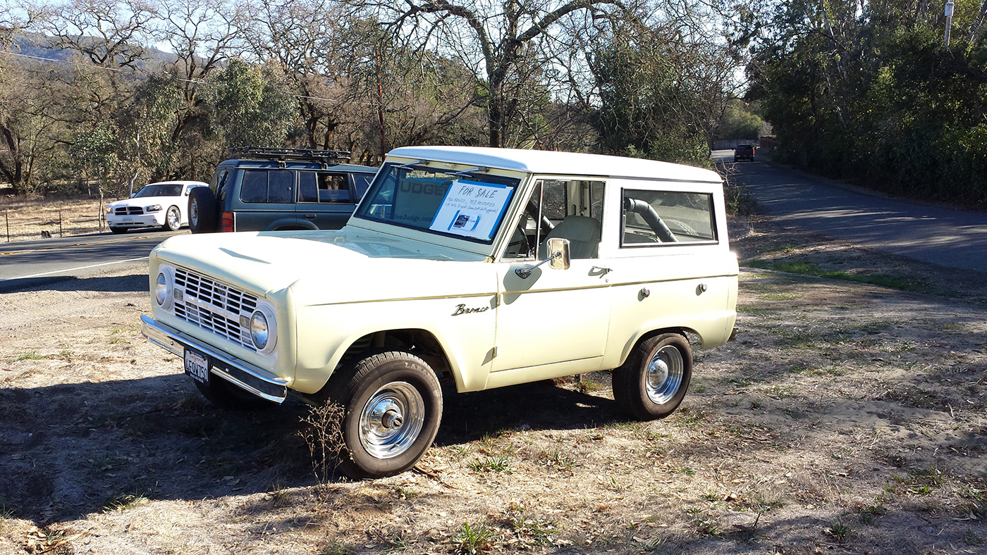 spotted 1966 ford bronco for sale west county explorers club. Black Bedroom Furniture Sets. Home Design Ideas