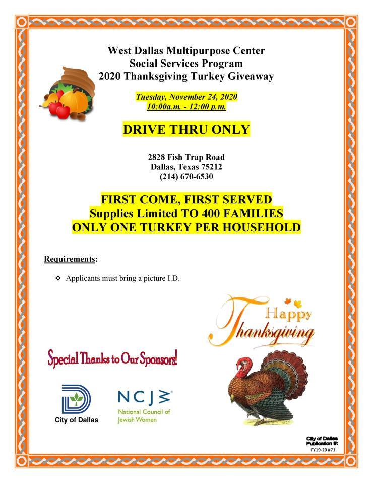 2020 WDMC Thanksgiving Flyer (English)